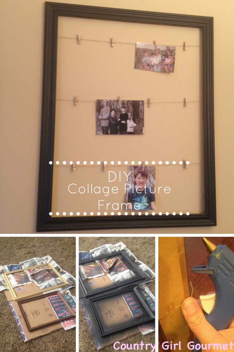Diy Collage Picture Frame My Hot Southern Mess