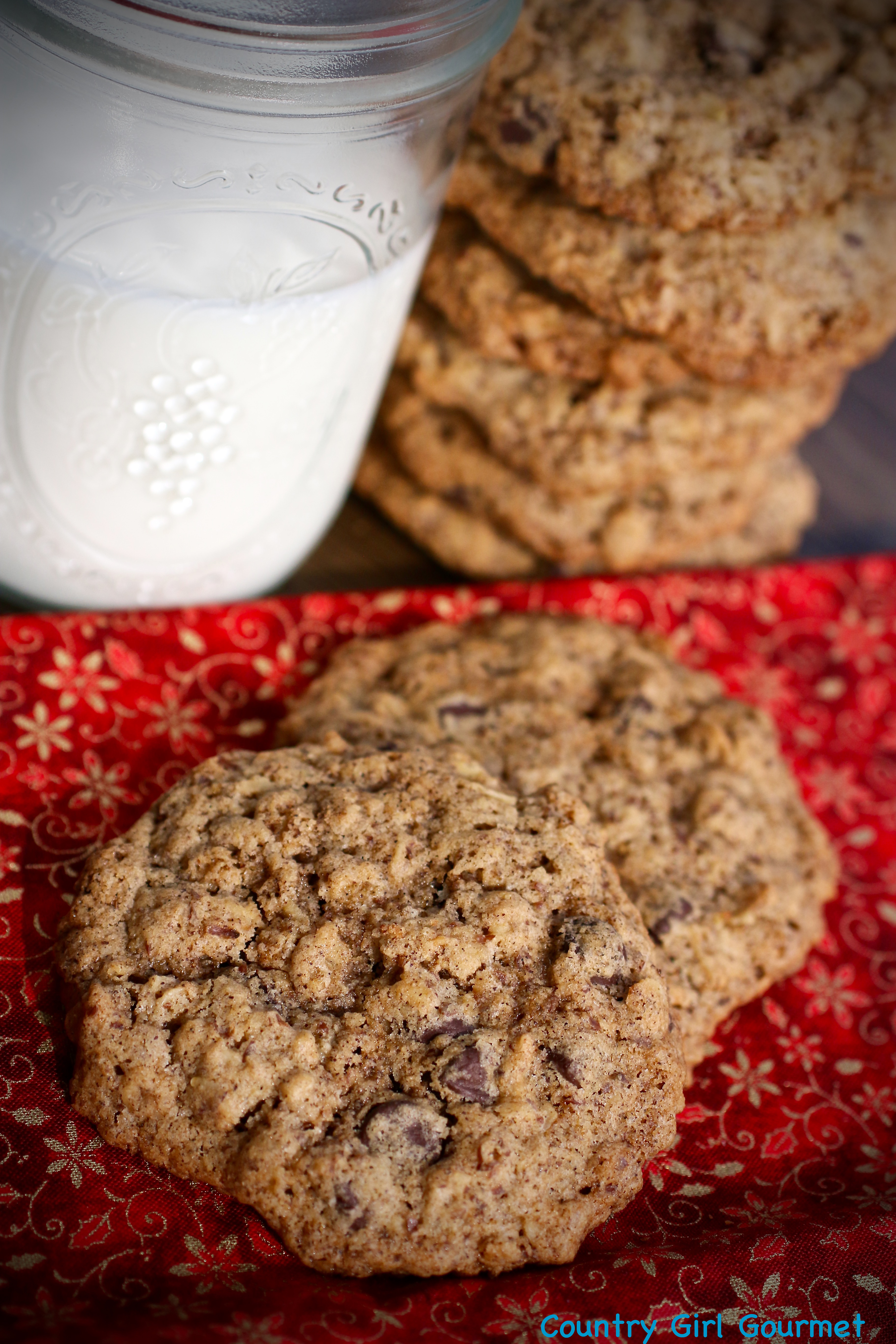 Oatmeal Chocolate Chip Cookies with Flax * My Hot Southern Mess