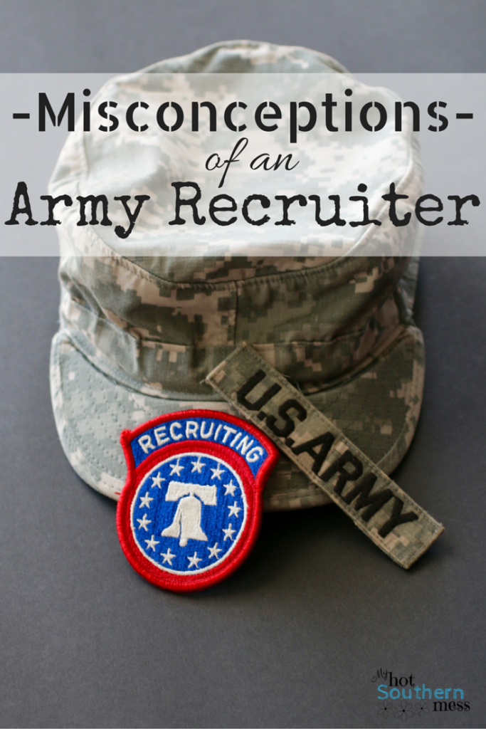 Misconceptions of an Army Recruiter | Country Girl Gourmet