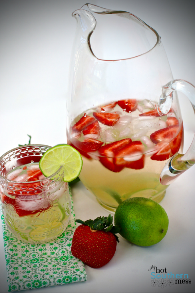Strawberry Lime Water | Country Girl Gourmet