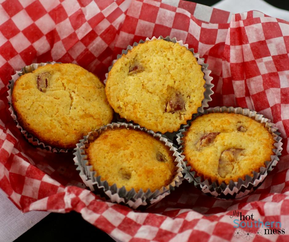 nascar small bites- corndog muffins