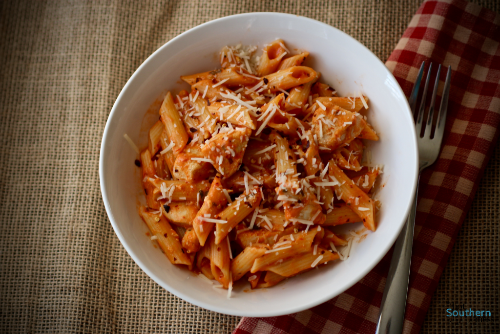Cheater Spicy Chicken Penne   My Hot Southern Mess