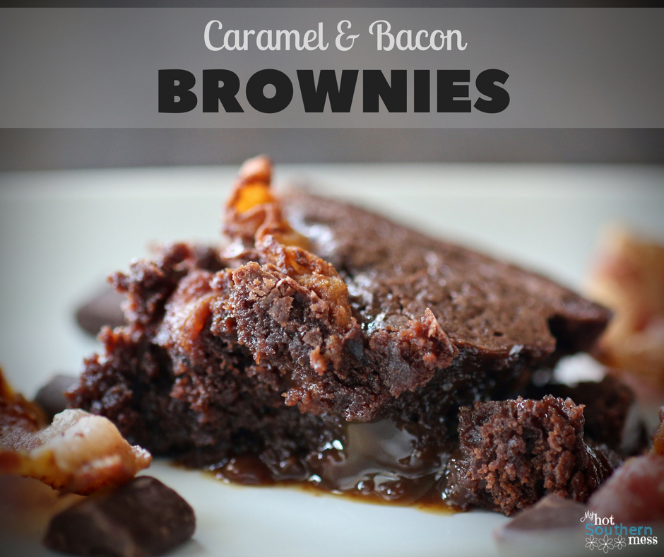 Caramel and Bacon Brownies | My Hot Southern Mess