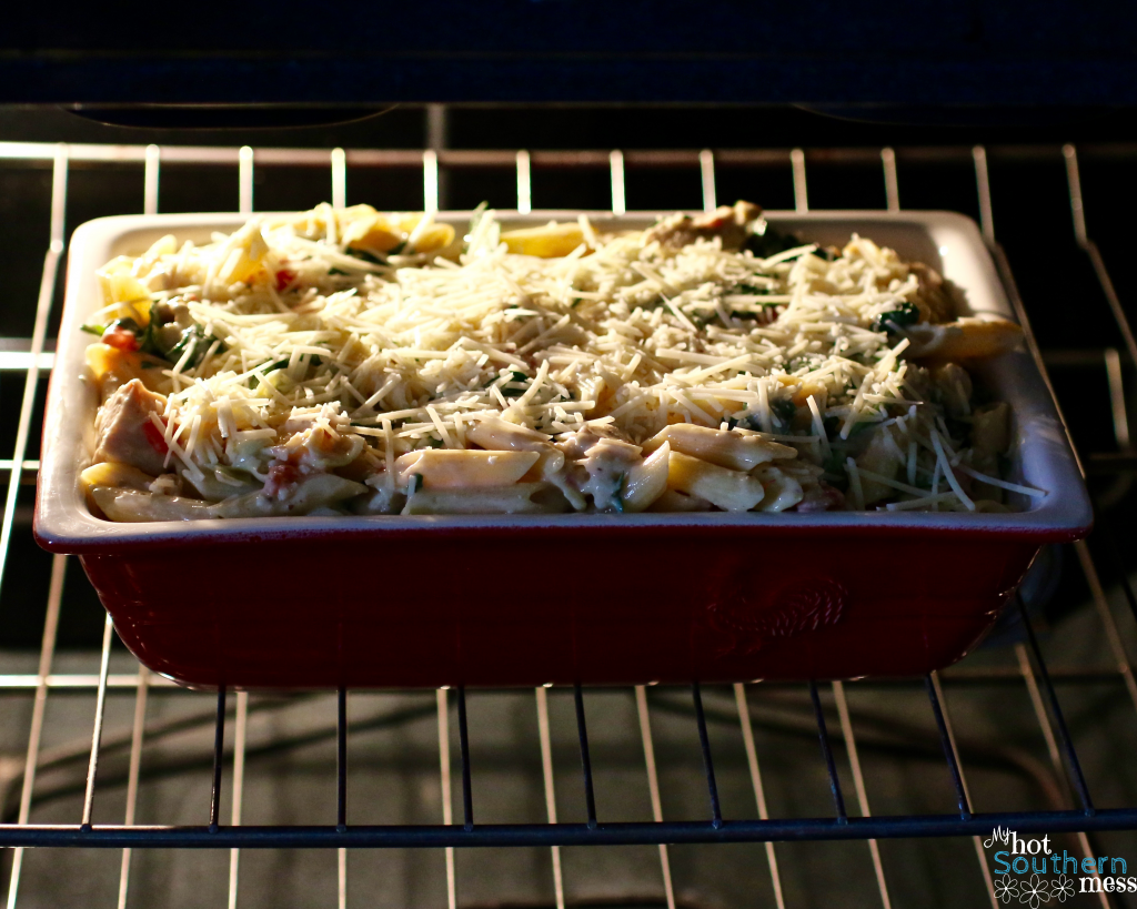 Spinach Artichoke Penne with Chicken | My Hot Southern Mess