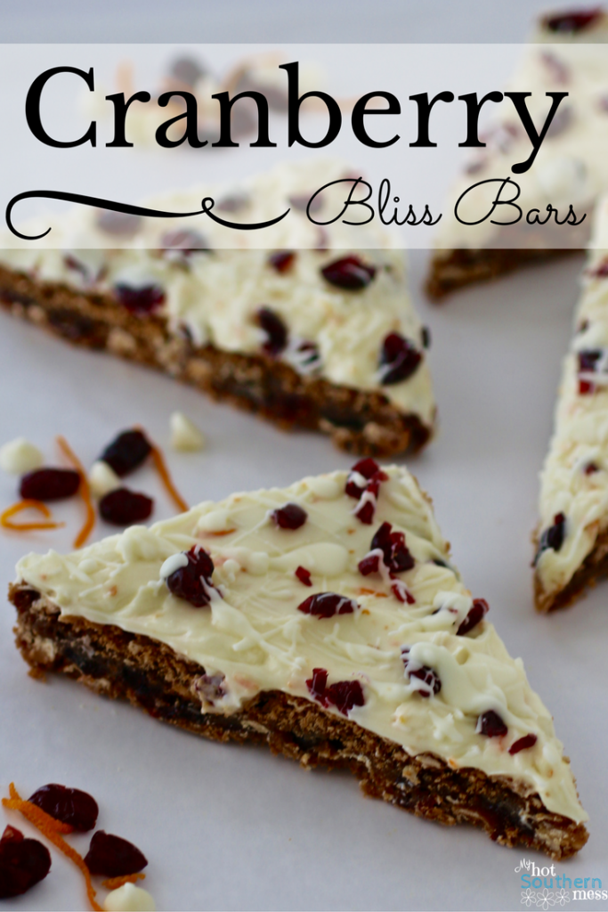 Almost Cranberry Bliss Bars   My Hot Southern Mess