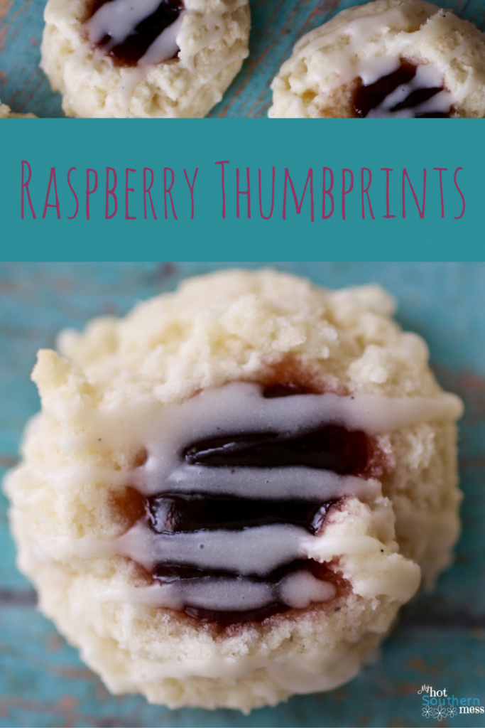 Raspberry Thumbprint | My Hot Southern Mess