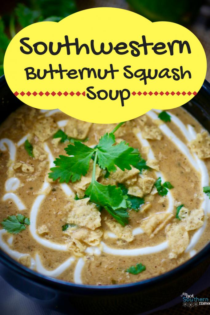 Southwestern Butternut Squash Soup | My Hot Southern Mess