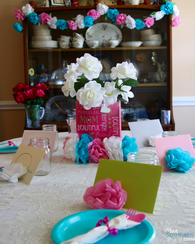 Tissue Paper Flower Garland | My Hot Southern Mess