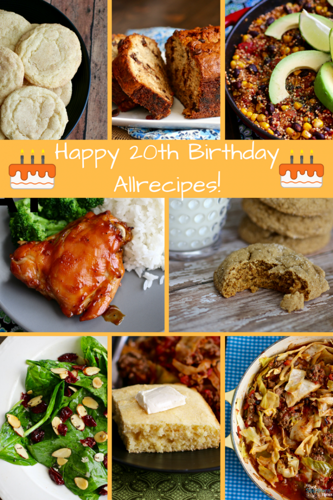 Happy 20th Birthday Allrecipes