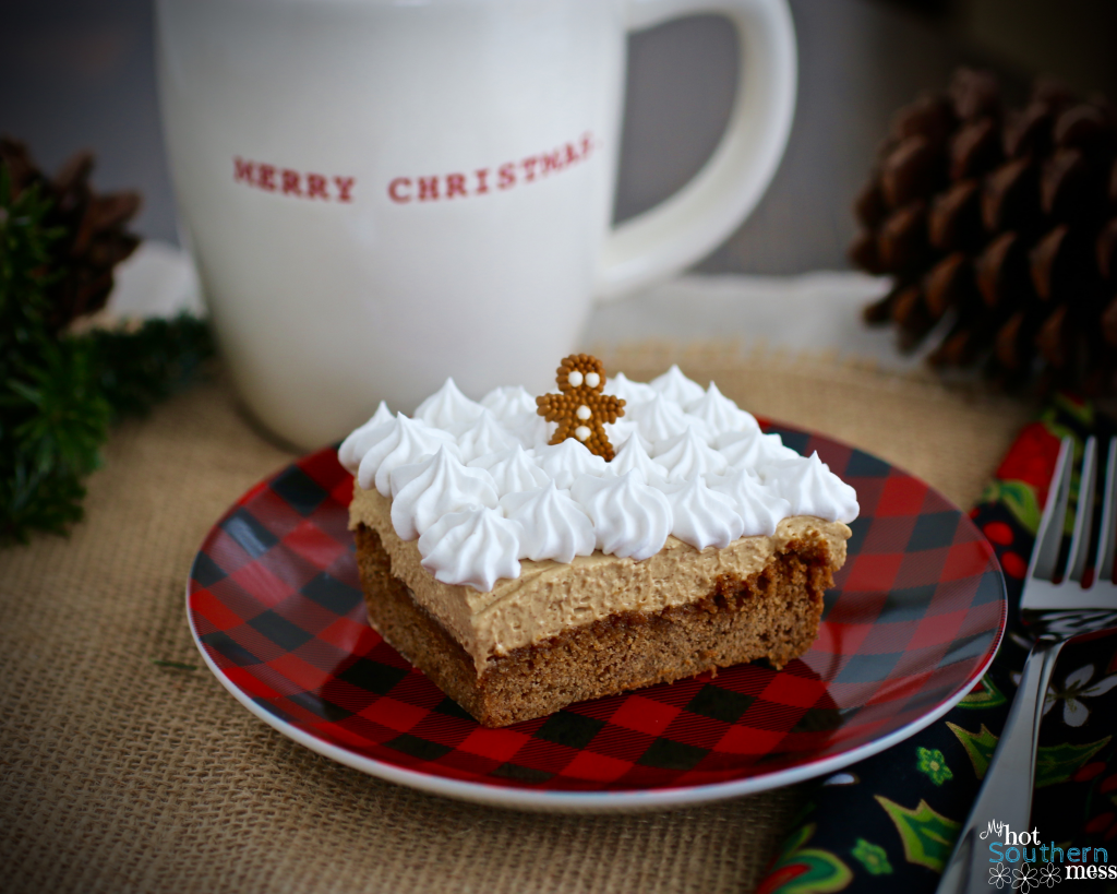 Gingerbread Cheesecake Bars | My Hot Southern Mess