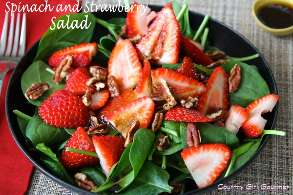 Spinach and Strawberry Salad | My Hot Southern Mess