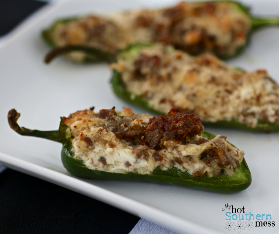 Sausage Stuffed Jalapeños | Nascar Race Day Snacks