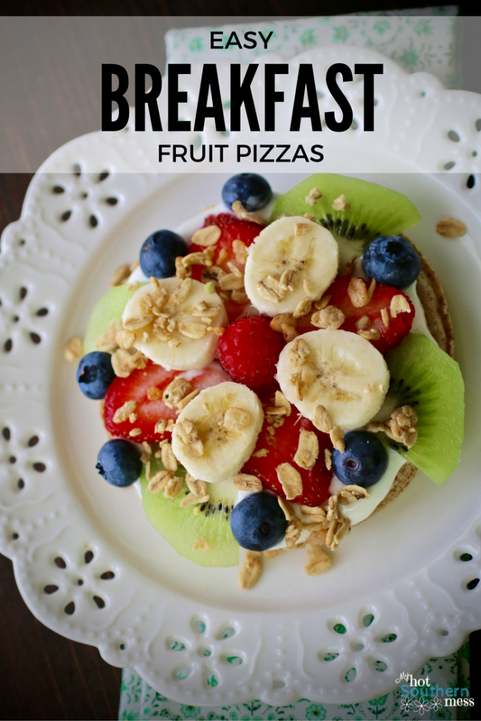 Easy Breakfast Fruit Pizzas | My Hot Southern Mess