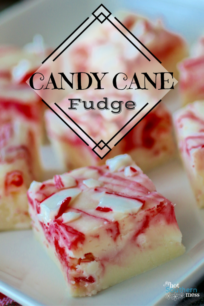 Candy Cane Fudge | My Hot Southern Mess
