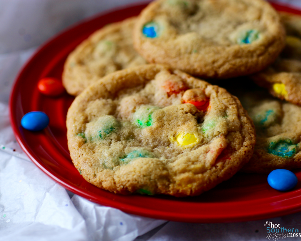 Classic M&M Cookies | My Hot Southern Mess