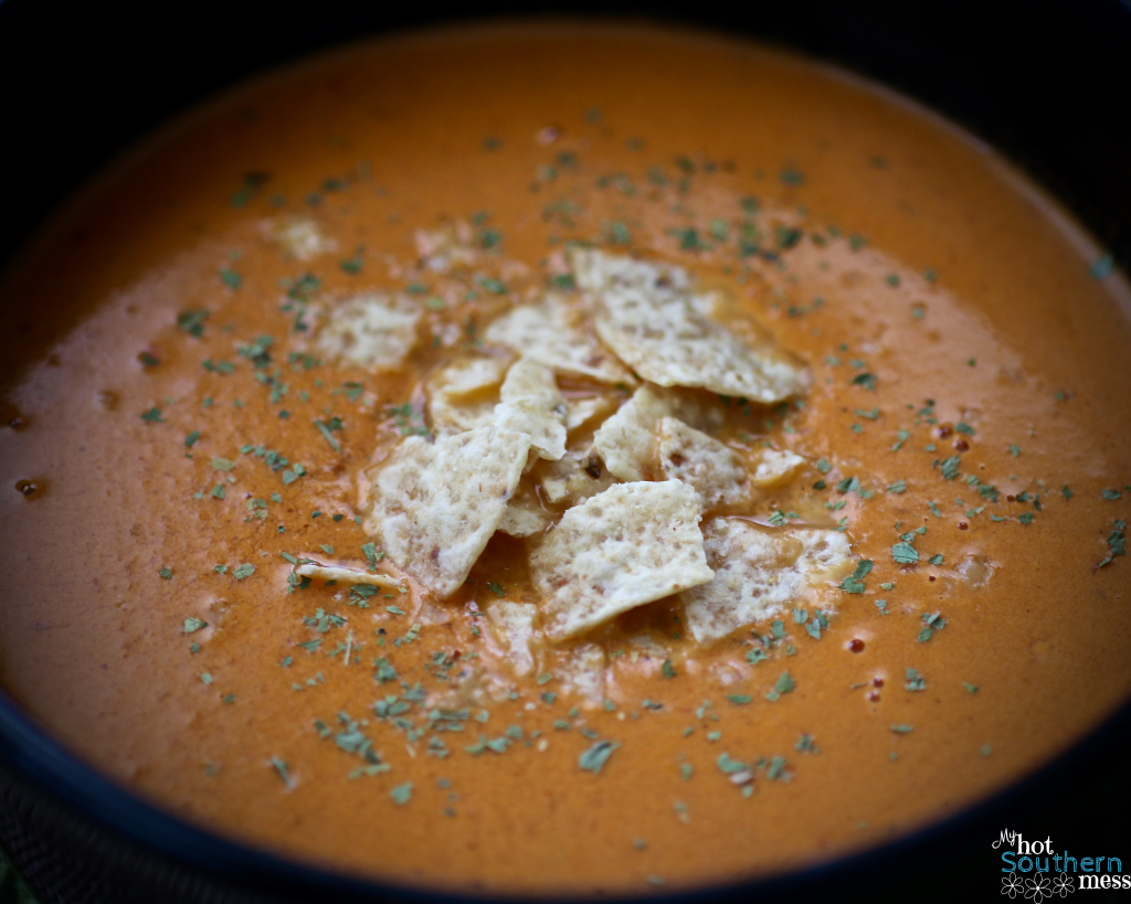 Creamy Chipotle Tomato Bisque | My Hot Southern Mess