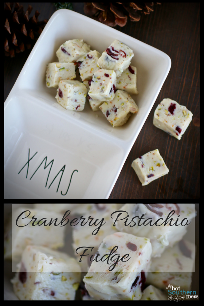 Cranberry Pistachio Fudge | My Hot Southern Mess