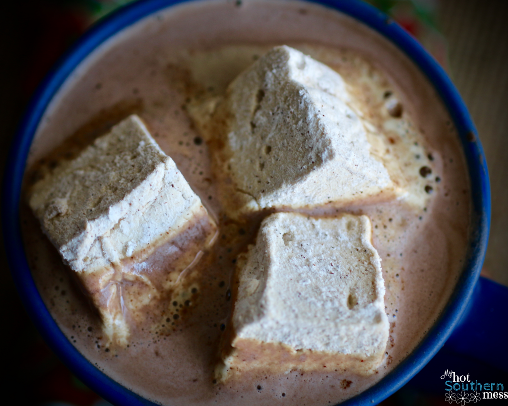 On the ninth day of Homemade Christmas, I made Gingerbread Marshmallows.