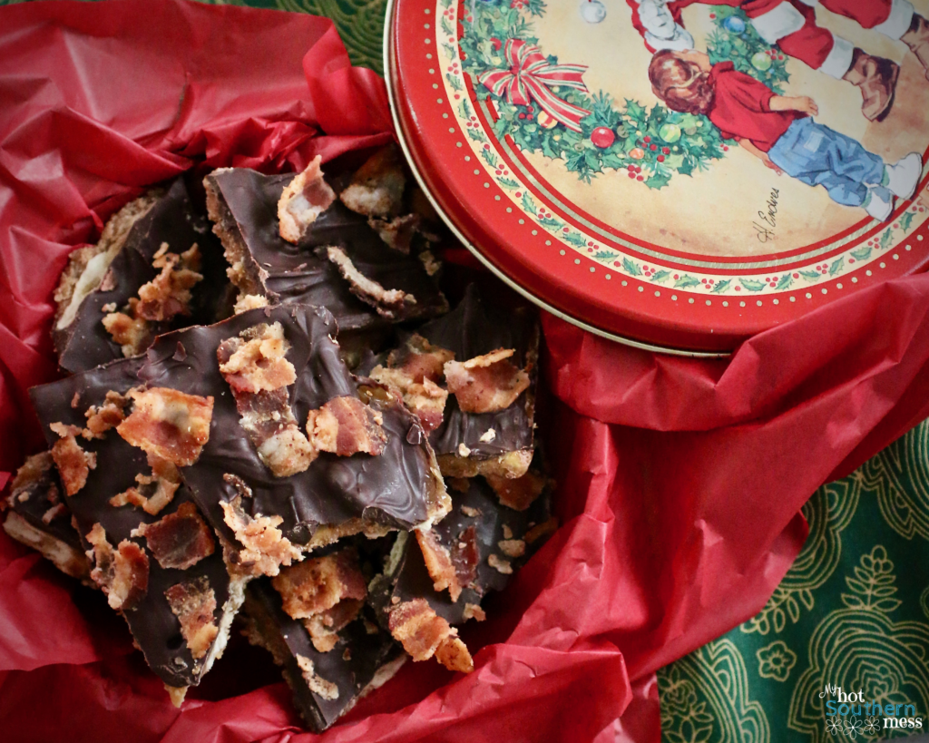 Bacon Christmas Crack Toffee | My Hot Southern Mess