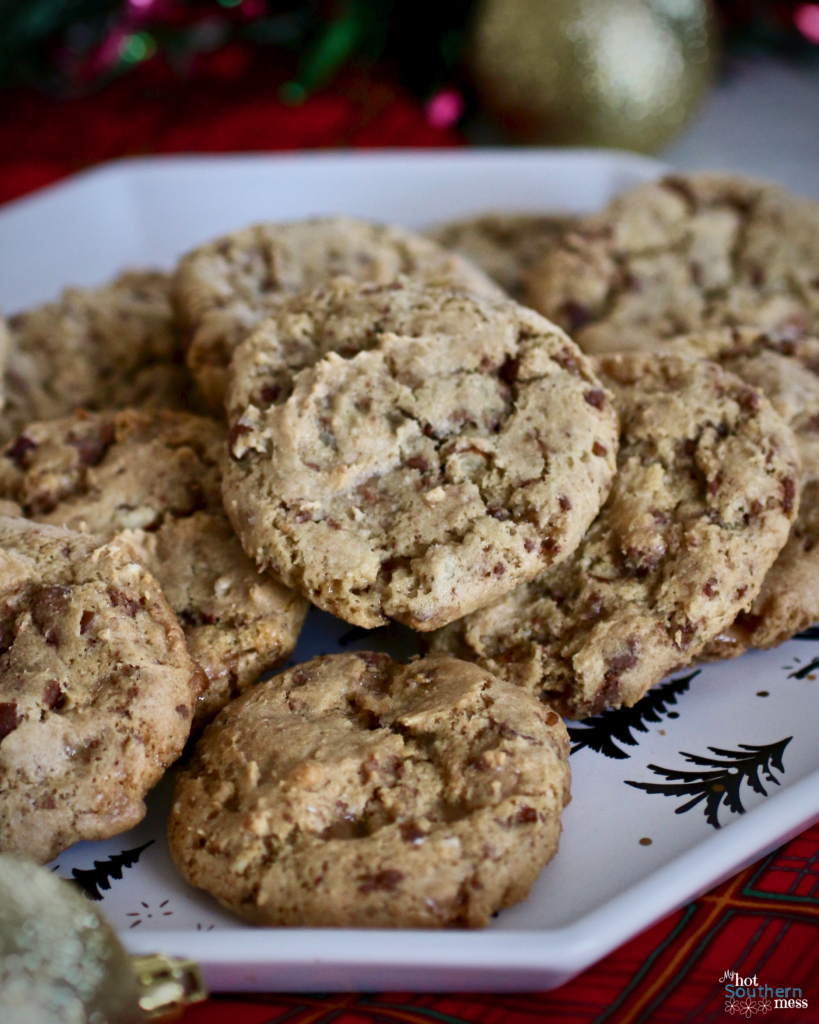 Toffee Nut Cookies | My Hot Southern Mess